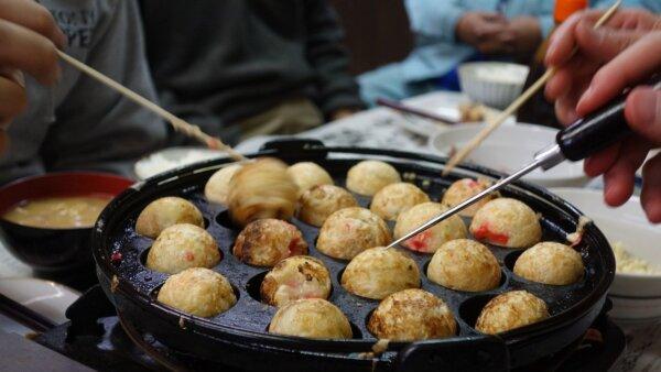 Pesta takoyaki dengan teman Jepang
