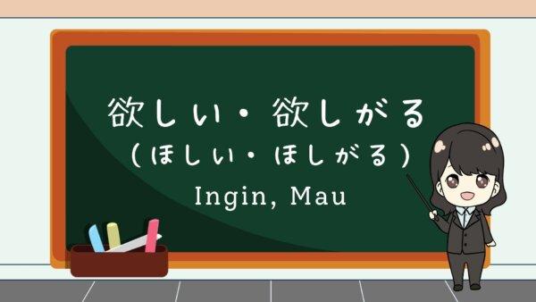 Hoshii / Hoshigaru (Ingin, Mau)  – Belajar Bahasa Jepang