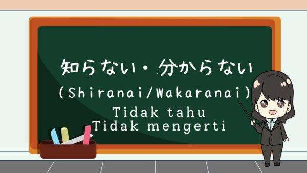 Shiranai (Tidak tahu) & Wakaranai (Tidak mengerti) – Belajar Bahasa Jepang